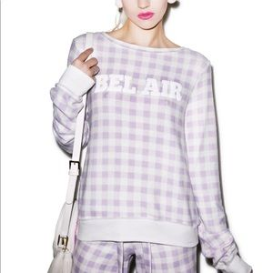 Wildfox Gingham in bel air baggy beach jumper
